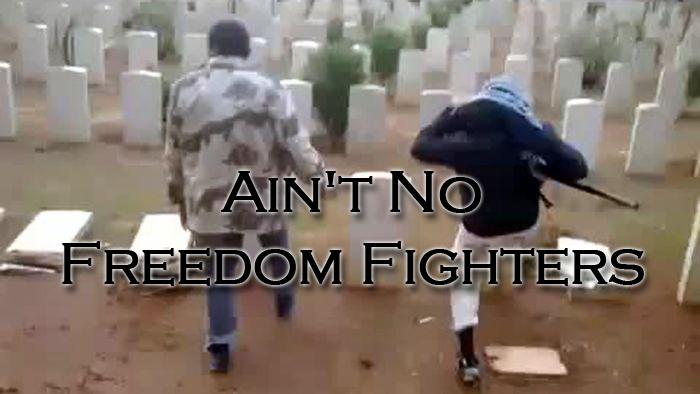 Anti-Ghaddafi, Libyians, graveyard
