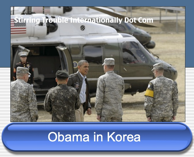 Obama in South Korea the demilitarised zone
