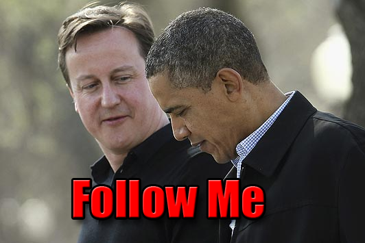 Cameron and Obama Follow Me