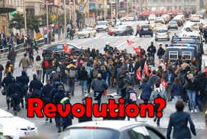 Revolution in Spain Madrid