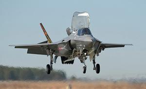 Jump Jet Lands On Aircraft Carrier