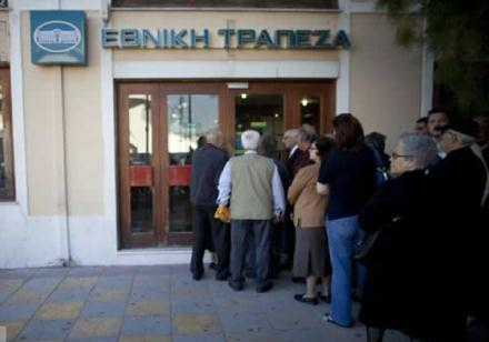 Queues in Greece banks