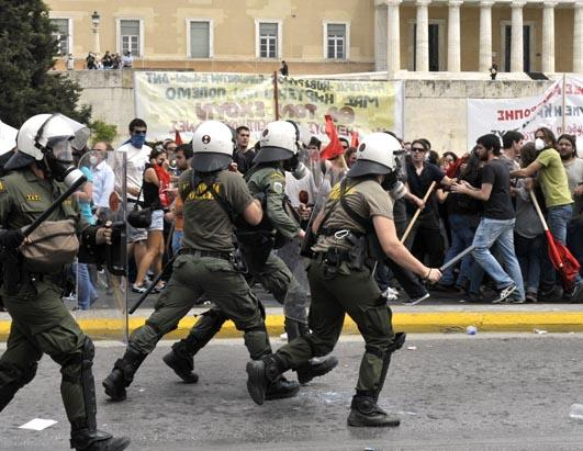 Greece riots Greece Lightening