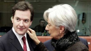 George Osborne and Christine Lagard
