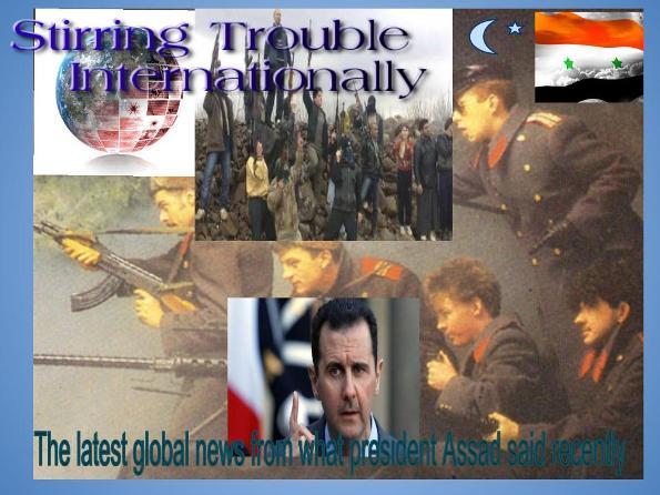 President Assad Announcement of War