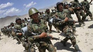 The Afghan Army Marching to the village