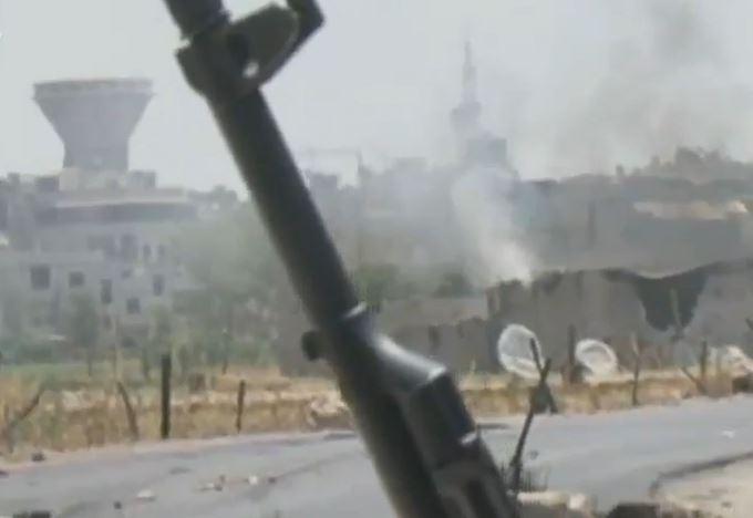 War footage in Damascus