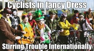 cyclists in fancy dress