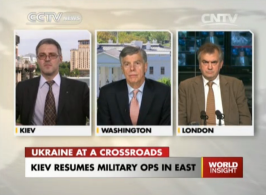 Kiev Resumes Military ops in East.