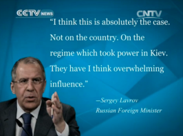Kiev have overwhelming influence: Sergey Lavrov